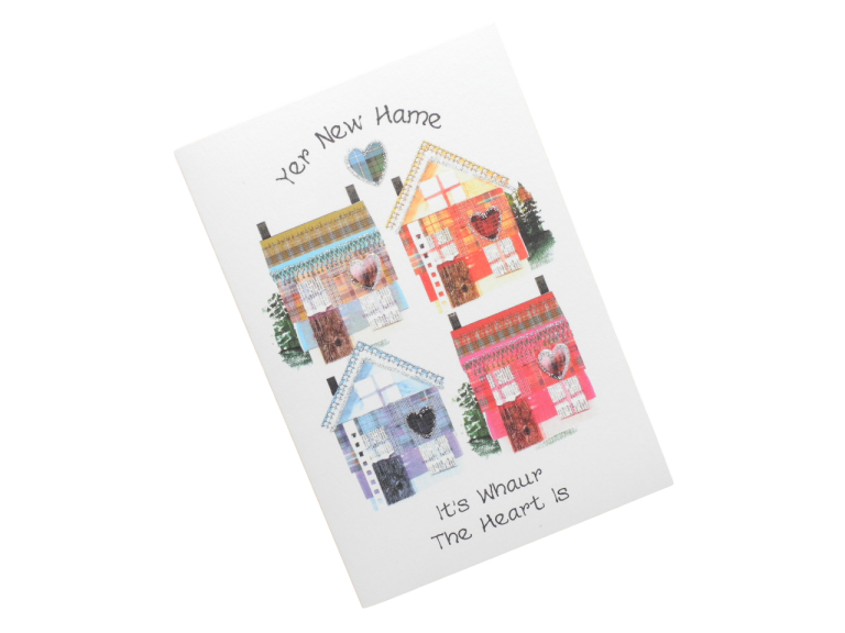 scottish new home card tartan house scots language