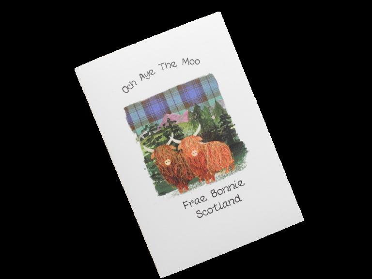 scottish card from scotland highland cow scots language