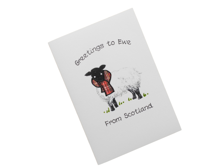 scottish card from scotland tartan sheep