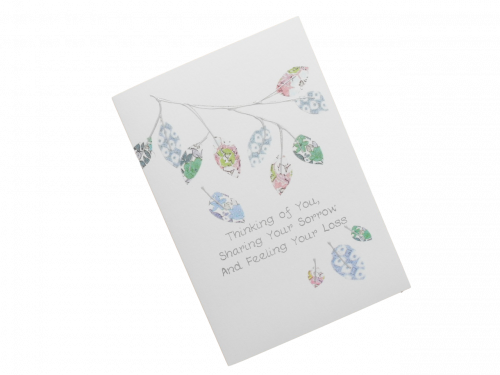 sympathy card branch of leaves