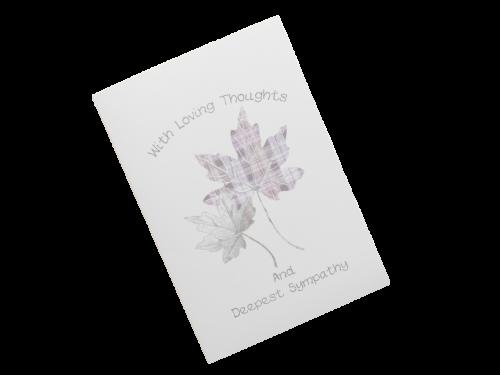 scottish sympathy card tartan leaves
