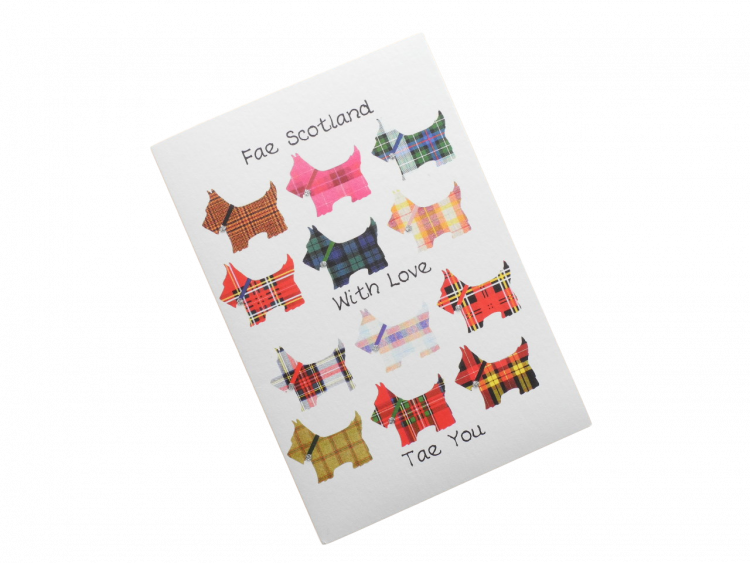 scottish card from scotland tartan scottie dogs scots language