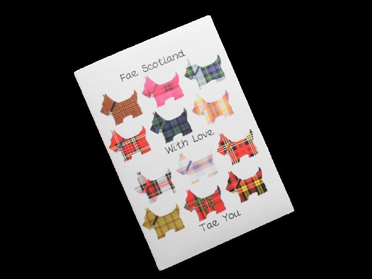scottish card from scotland tartan scottie dogs scots language