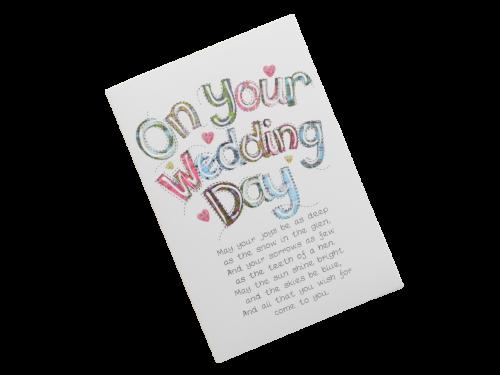 scottish wedding card tartan words