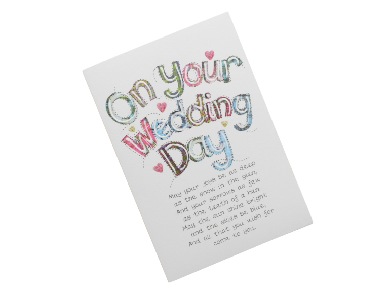 scottish wedding card tartan words