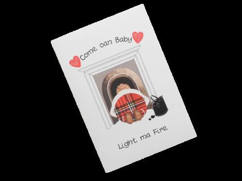 scottish card fireplace tartan doric scots language