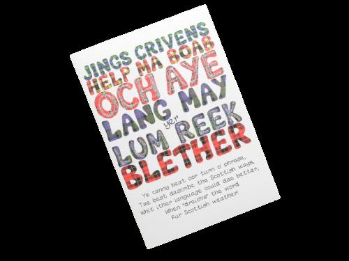 scottish card tartan words doric scots language