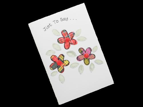 scottish card tartan flowers doric scots language