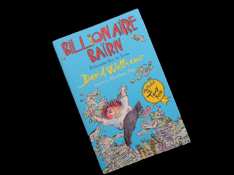 scots language book for children billionaire bairn boy