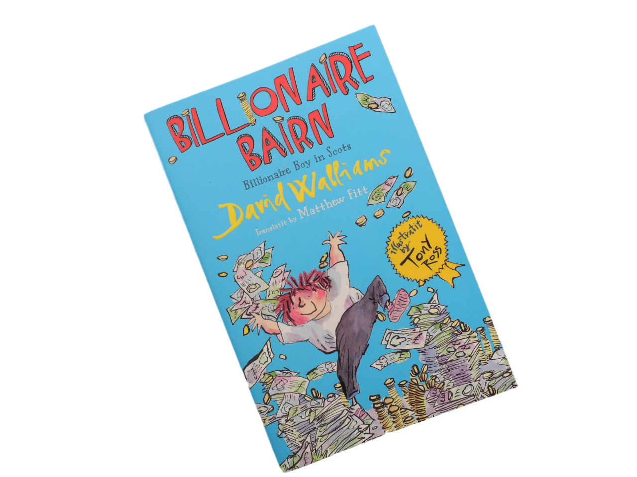 scottish book for children billionaire boy bairn david walliams matthew fitt scots language