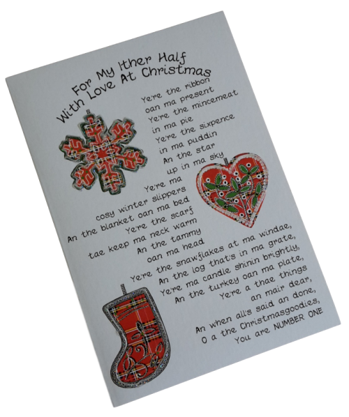 scottish christmas card other half scots language