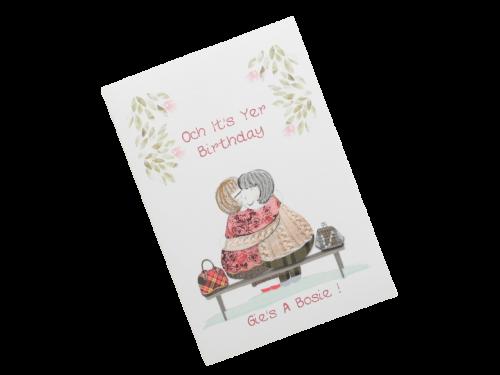 scottish birthday card cuddle bosie female doric scots language