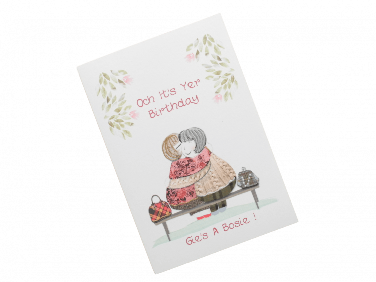 scottish birthday card cuddle bosie female doric scots language