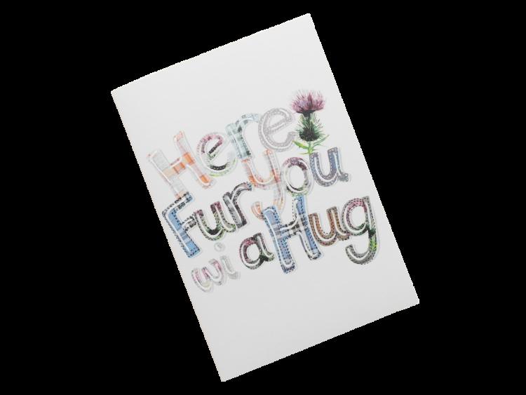 scottish card tartan sympathy hug scots language