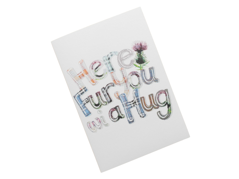 scottish card tartan sympathy hug scots language