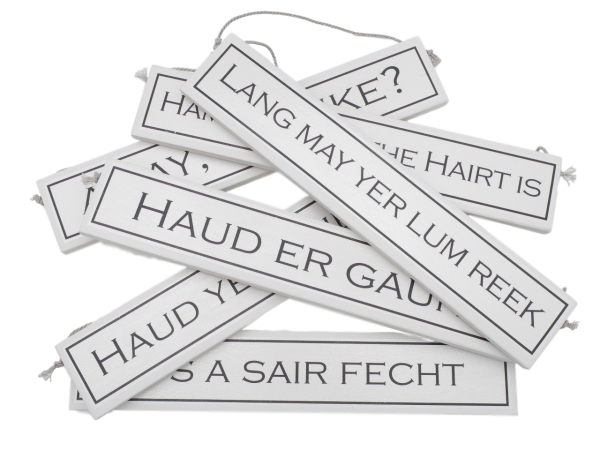 scottish expressions sayings scots language gift plaque