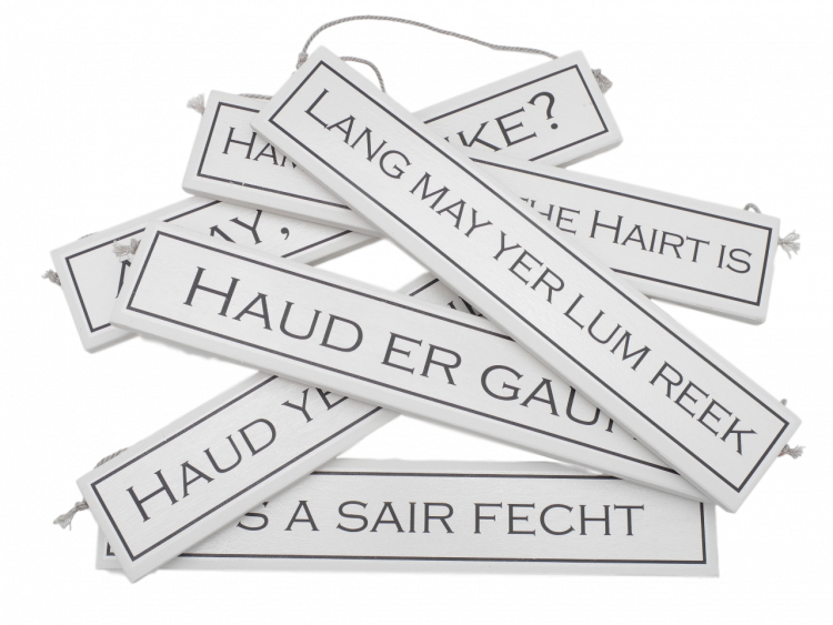 scottish gift doric sayings expressions scots language plaque sign