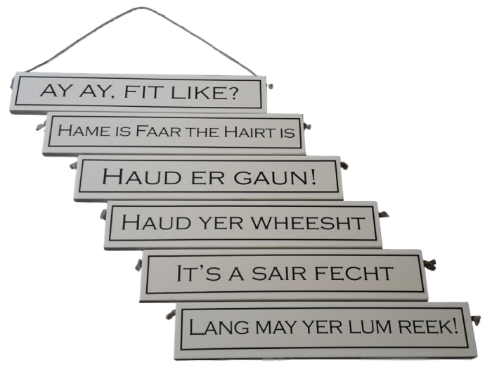 scottish scots language gift