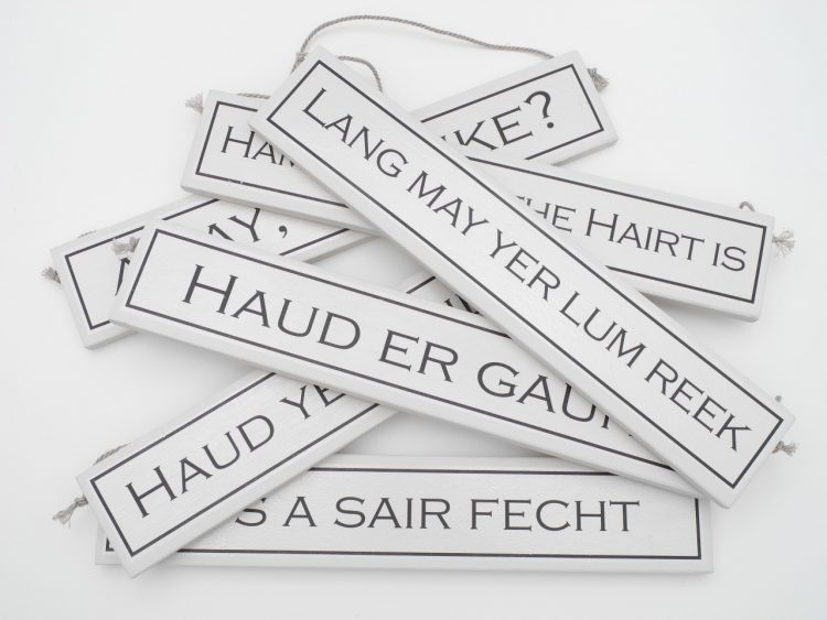 scottish sayings scots language gift plaque