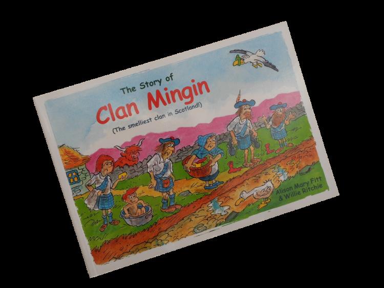 scottish scots language book for children clan mingin