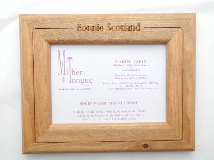 scottish wooden photo frame scotland scots language