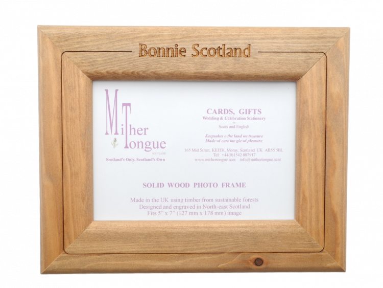 Photo Frame – scottish wooden photo frame scotland scots langauge