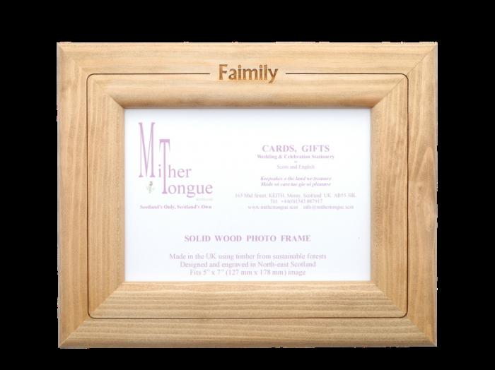 Photo Frame – scottish wooden photo frame scotland scots langauge
