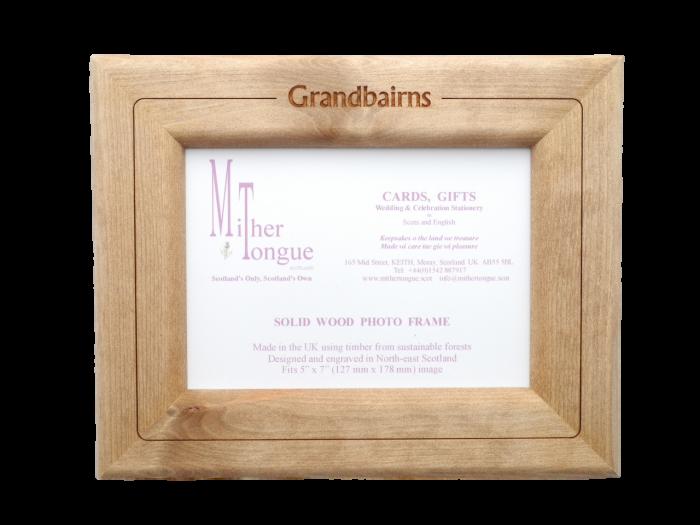scottish wooden photo frame scotland scots languag