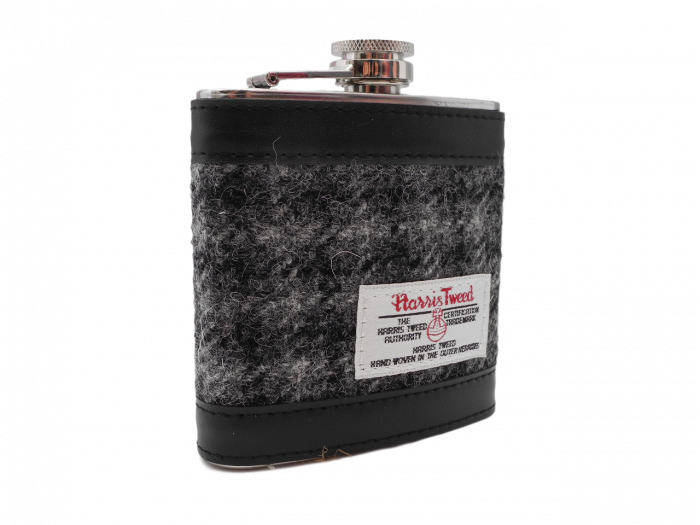 Harris Tweed hip flask gift boxed 6 oz