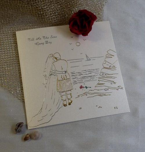 scottish scots language wedding invitations stationery till aa the seas gang dry