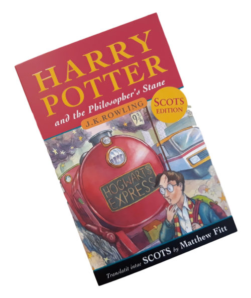 book for children Harry Potter Philosopher's Stone in Scots language