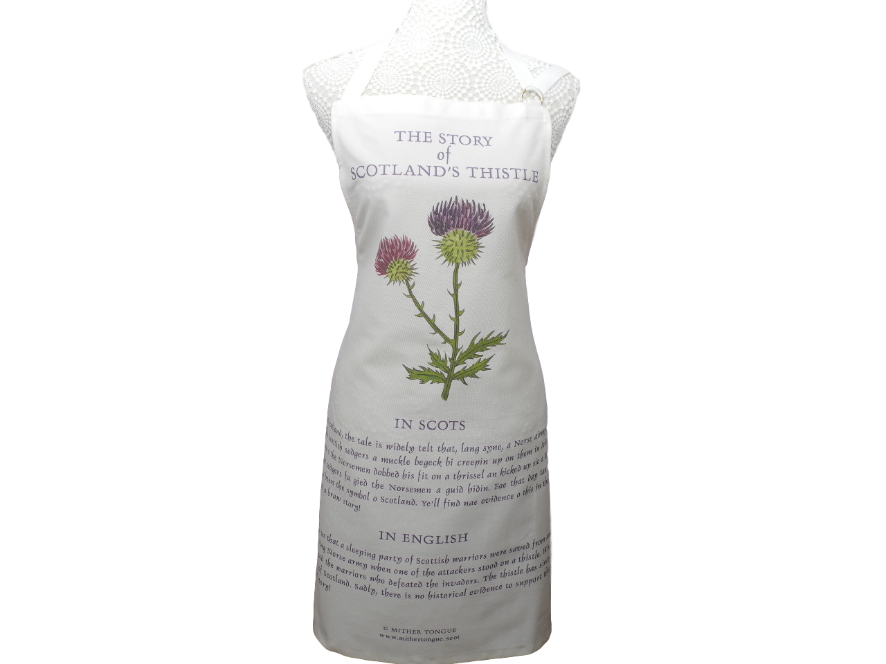 scottish apron the story of scotland's thistle scots language
