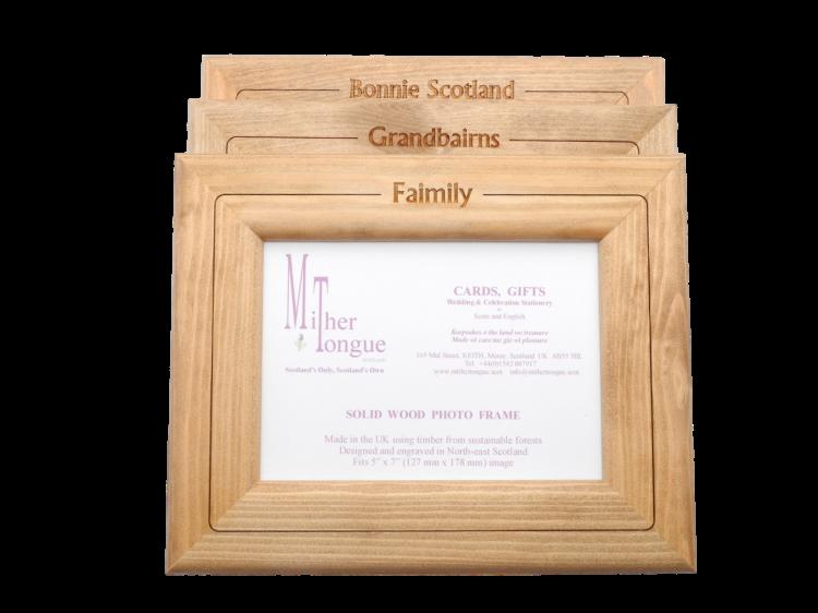 scottish wooden photo frame scots doric language