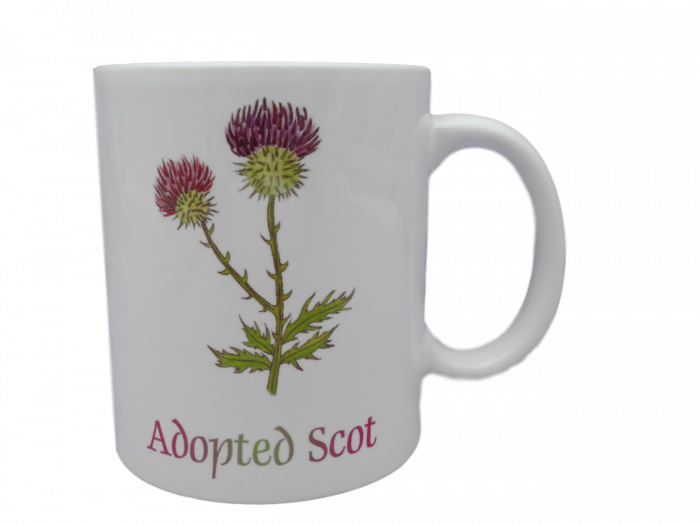 Scottish mug thistle scots language doric adopted scot