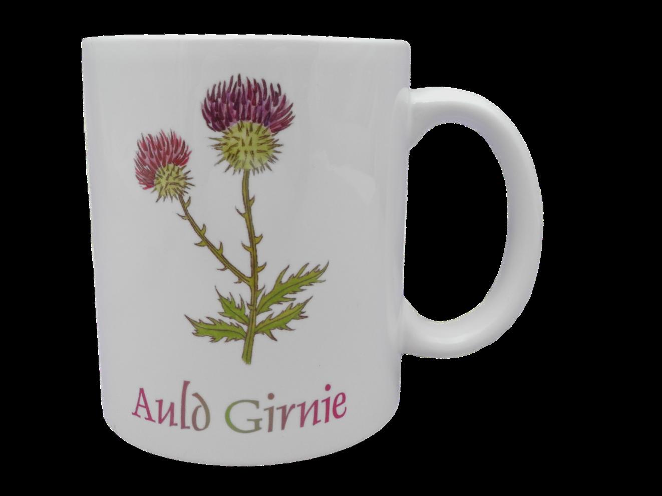 Scottish mug thistle scots language doric auld girnie