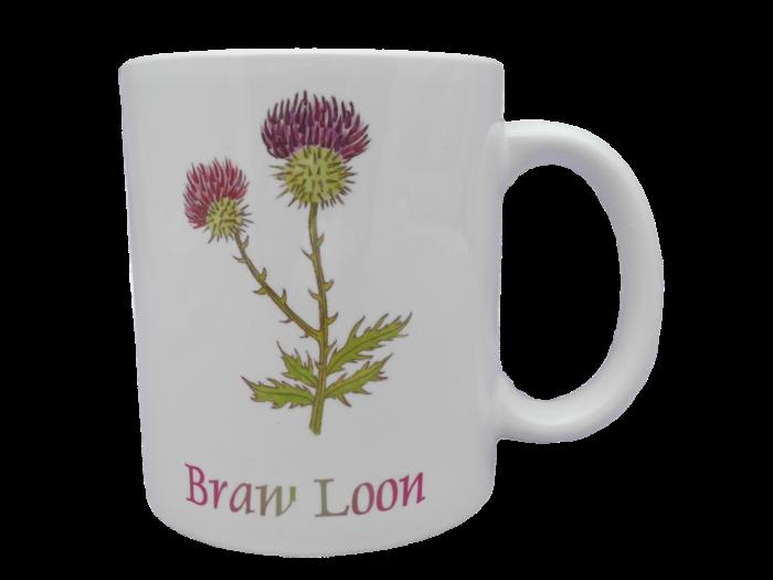 Scottish mug thistle scots language doric braw loon