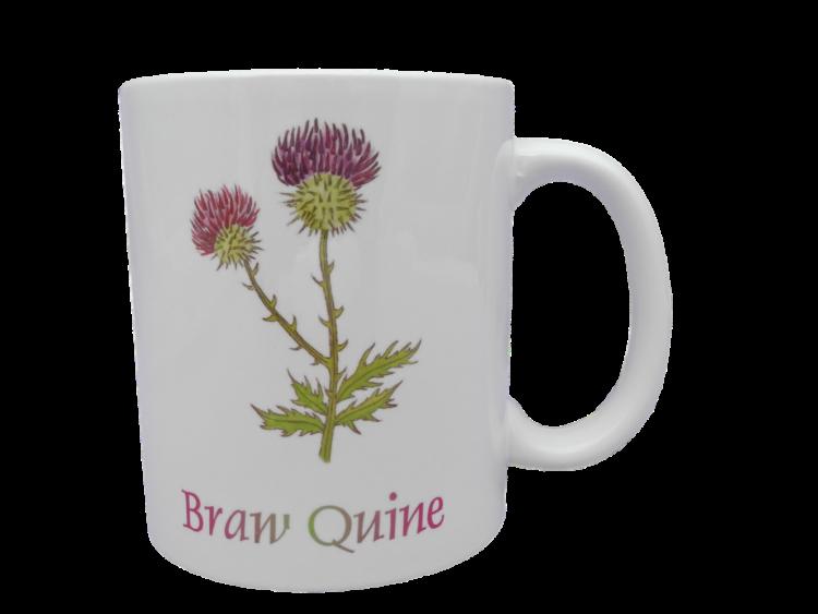 Scottish mug thistle scots language doric braw quine