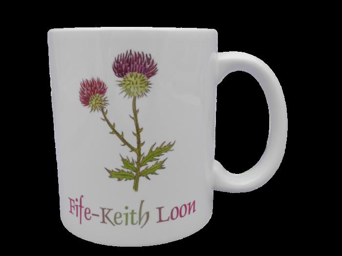 Scottish mug thistle scots language doric fife-keith loon