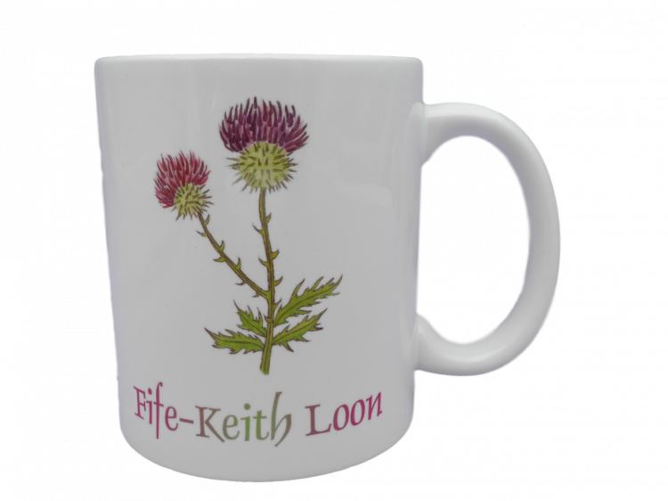 Scottish mug thistle scots language doric fife-keith loon