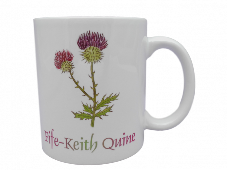 Scottish mug thistle scots language doric fife-keith quine