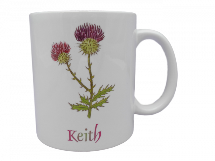 Scottish mug thistle keith