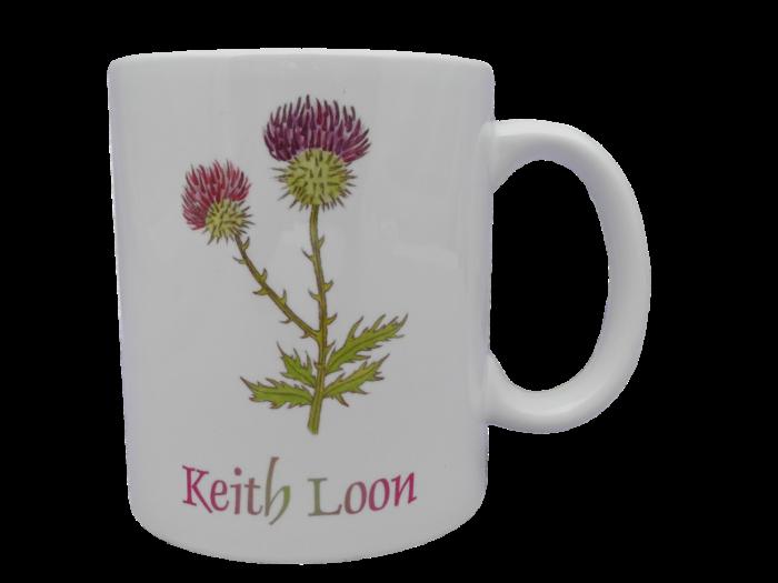 Scottish mug thistle scots language doric Keith loon