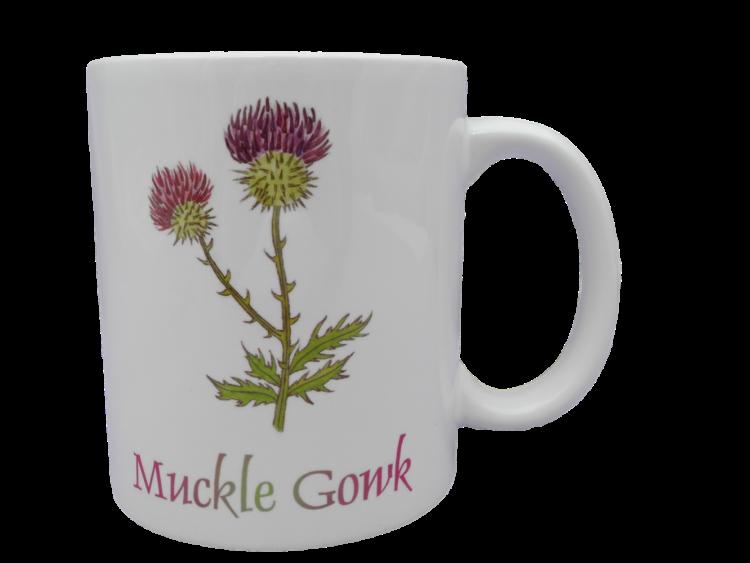 Scottish mug thistle scots language doric muckle gowk