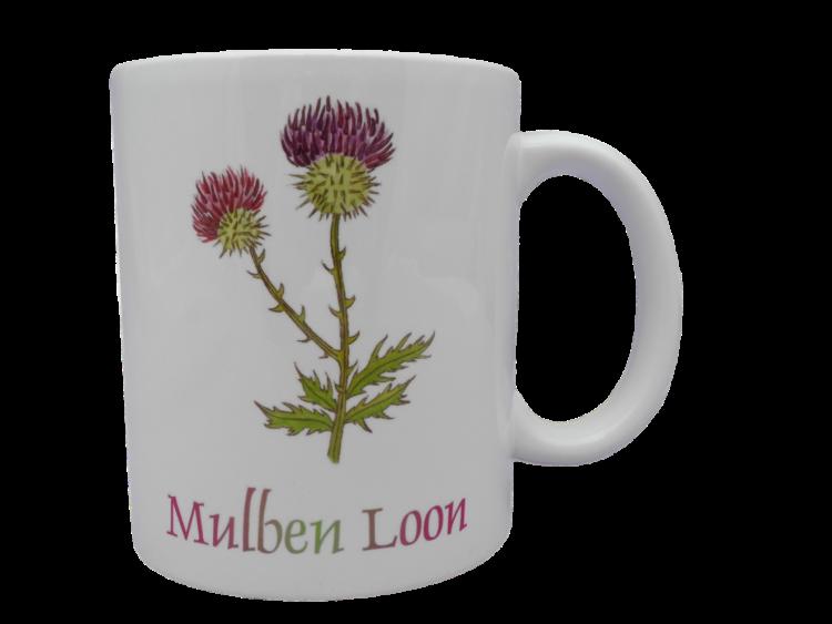 Scottish mug thistle scots language doric mulben loon