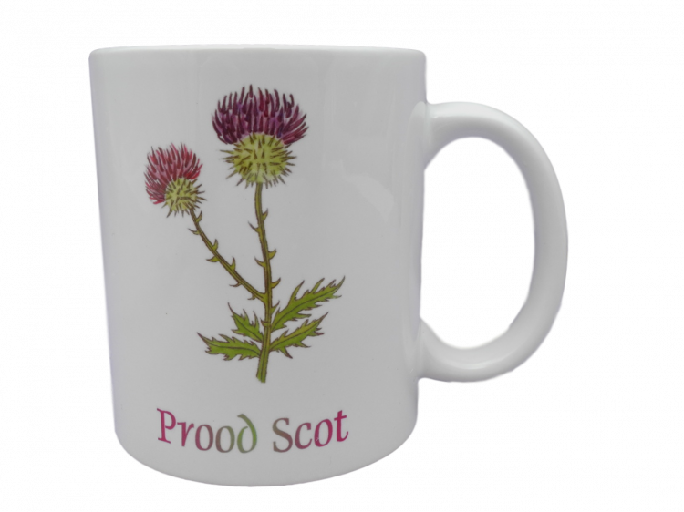 Scottish mug thistle prood scot