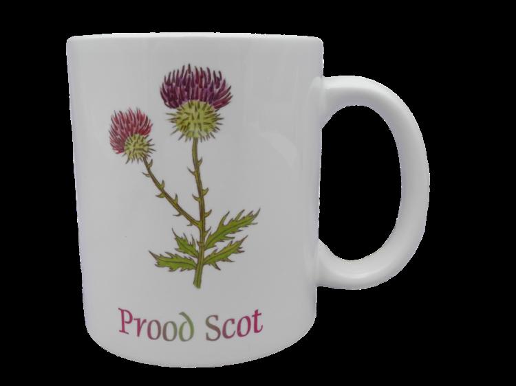Scottish mug thistle prood scot