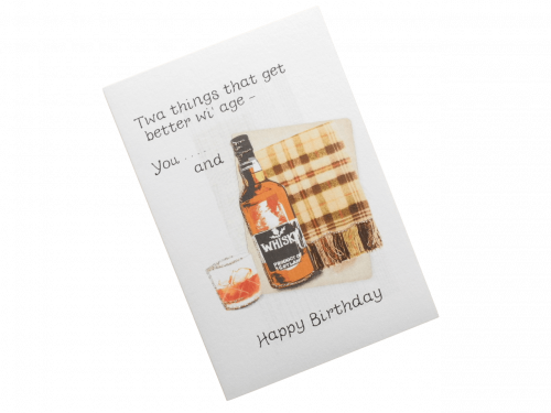 scottish birthday card tartan whisky doric scots language