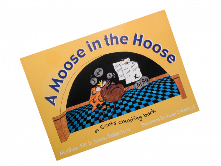scottish scots language children's book a moose in the hoose