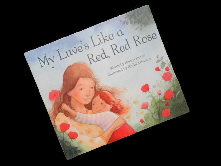 scottish scots language book for children red rose robert burns
