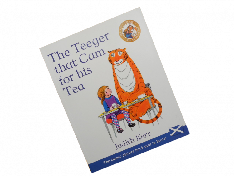 scottish scots language book for children tiger who came to tea